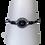 Armband met magneetsluiting - Zilverkleurig met zwarte kraal