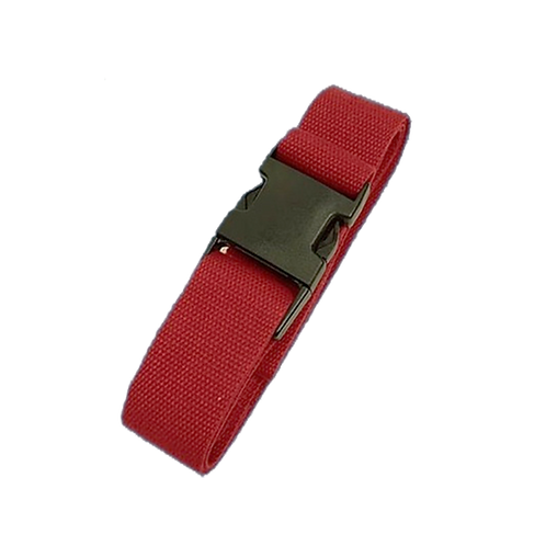Yoga ondersteuningsriem Cinch - buckle - rood