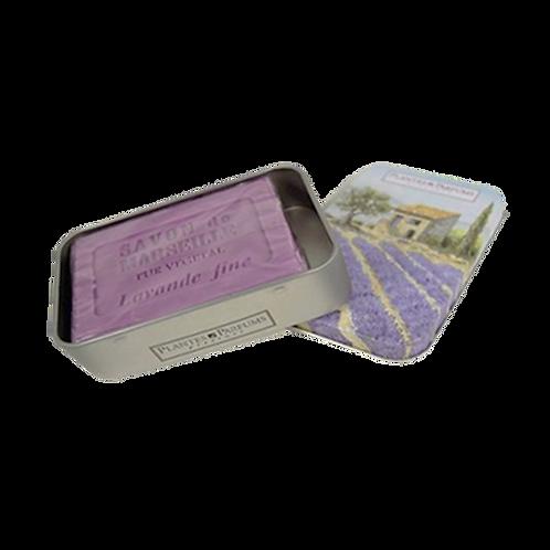 Lavendel zeep in geschenk blikje 100 gram