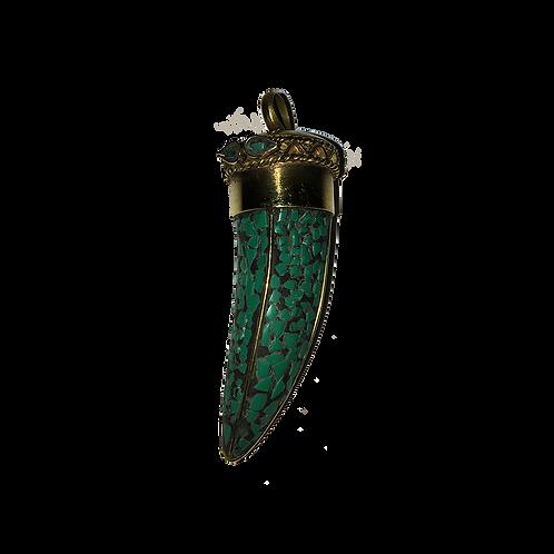 Hanger Tand Smaragd groen - 6cm
