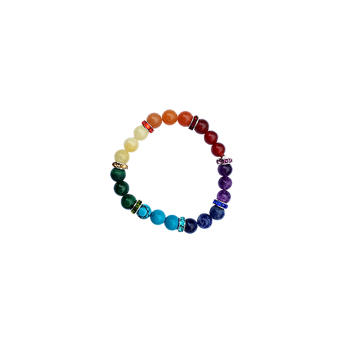 Armband 7 chakra's elastisch