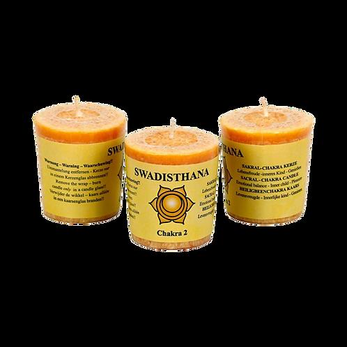 Chakra 2 geurkaarsje Swadhisthana (evenwicht)