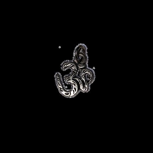 Hanger met Ohm teken 2x2cm zilverkleurig
