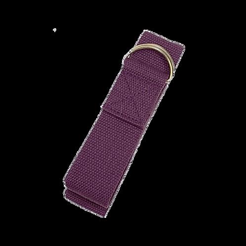 Yoga ondersteuningsriem D-ring - kleur paars