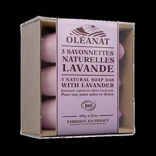 Drie zepen met lavendel - biologisch