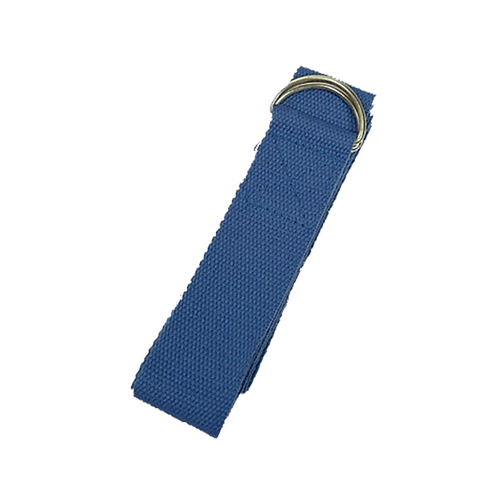 Yoga ondersteunende riem, D-ring blauw