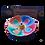 Wierookbrander - Lotus - kleurig gelakt hout