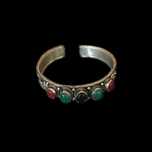 Armband - met meerkleurige stenen