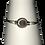 Armband met magneetsluiting - zilverkleurig met licht paarse kraal