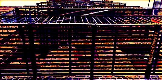 NYC fire escape from below.JPG