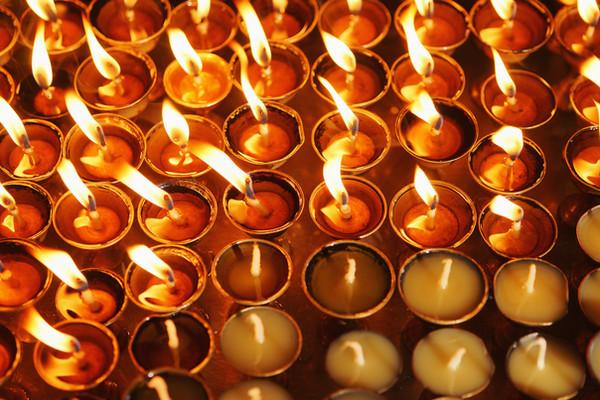 Bougies du temple