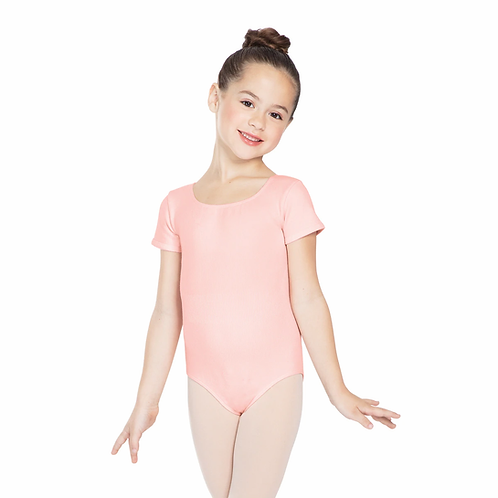 Pink Short Sleeve Leotard