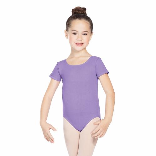 Purple short sleeve leotard (girls)