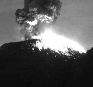 Reportan más actividad del Popocatépetl en las últimas horas