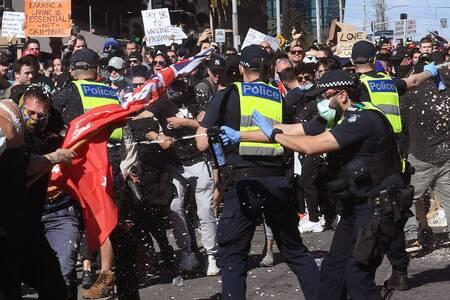 Protestas en Australia por restricciones frente a pandemia de Covid