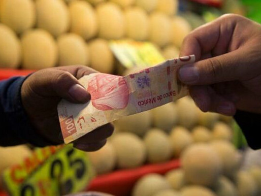 Registra inflación en México su nivel más elevado en 6 meses