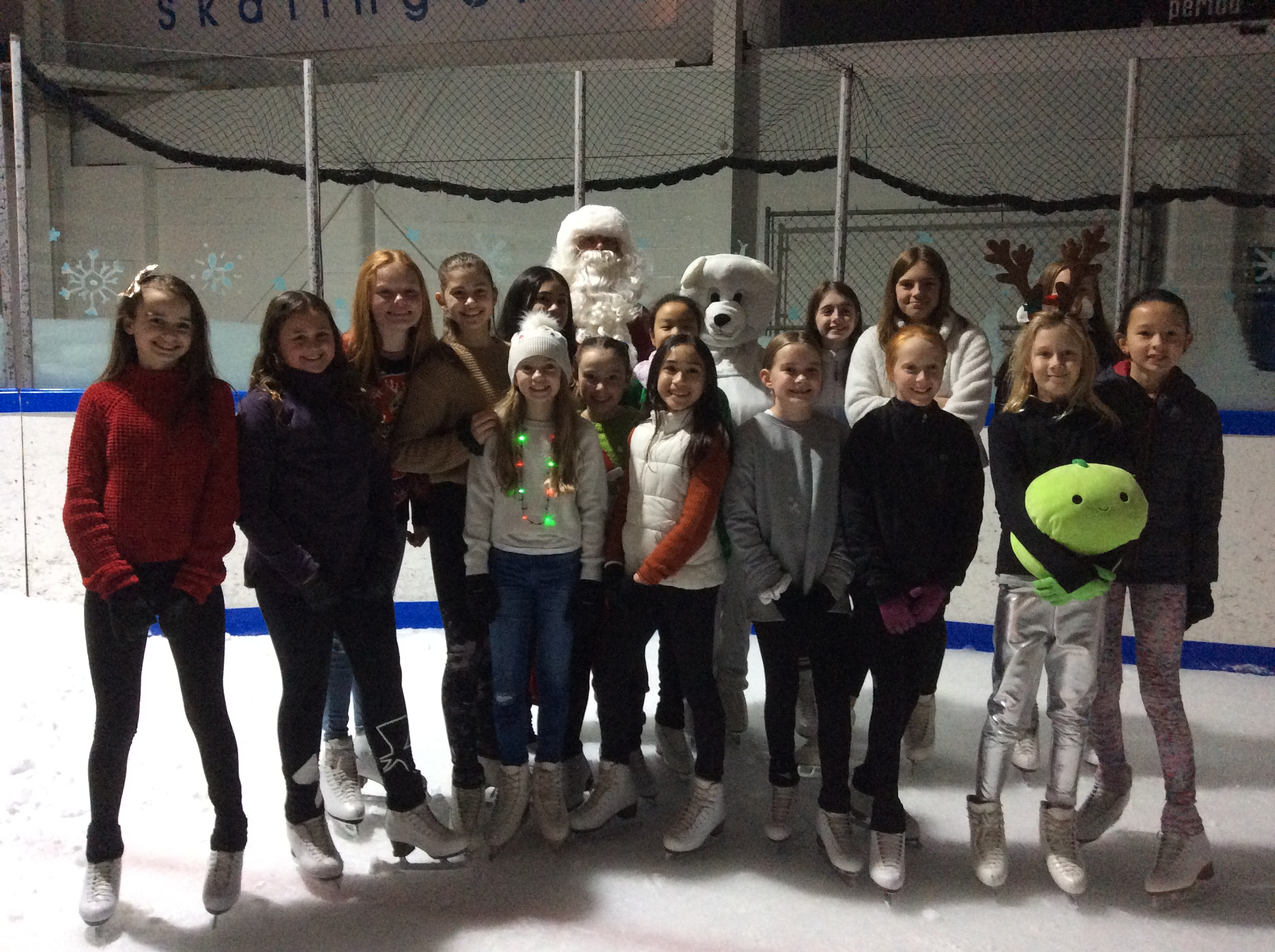 Santa with JDFSC Skaters