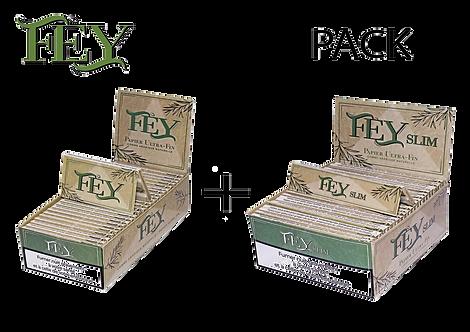 Pack de deux boites de feuilles à rouler Slim + Regular