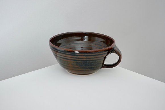Liquorice Tenmoku Soup Mug #3