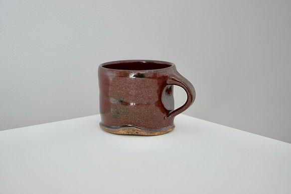 Maroon Tenmoku Mini Mug #1