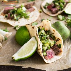 Beef chimichurri taco