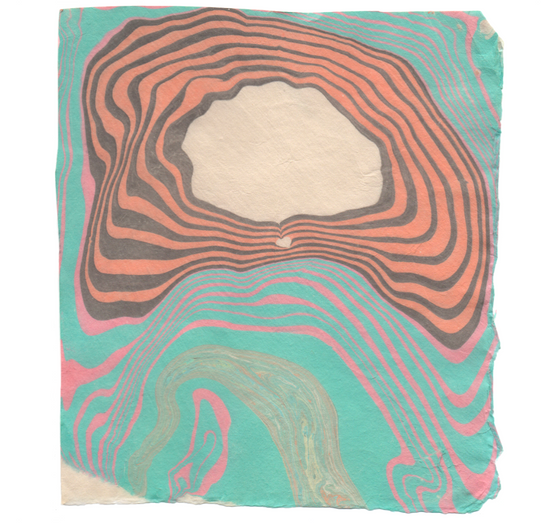 suminagashi marbling print