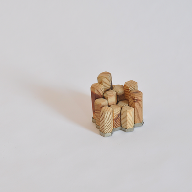 wood honeycomb puzzle