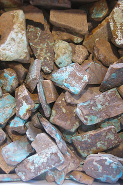 Natural Cerrillos Turquoise Rocks