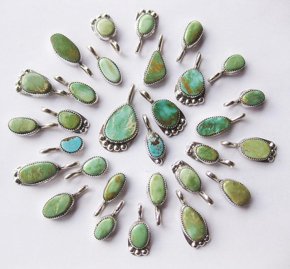 Cerrillos-Turquoise-Pendants