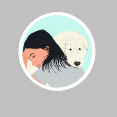 Girl with dog sticker .PNG