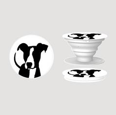 Black dog silhouette pop socket .png
