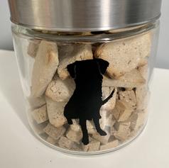 Custom cookie jar. Dog silhouette