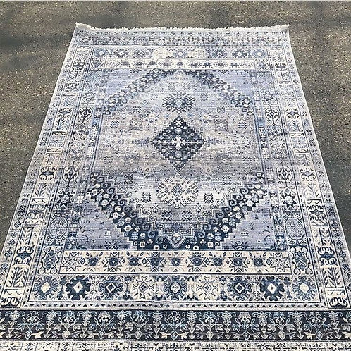 Blue and White Vintage Area Rug