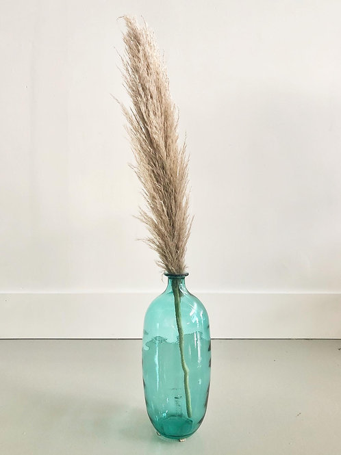 Teal Coloured Glass Jug