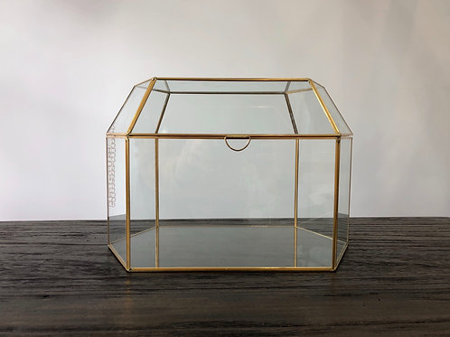 Glass Geometric Container