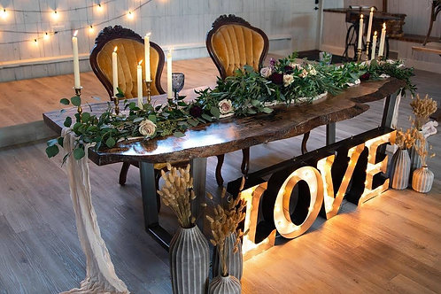 Black Love Letters Marquee