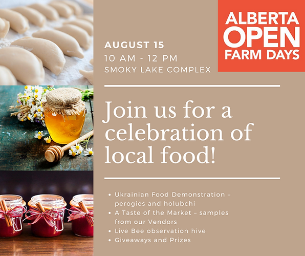 Join us for a celebration of local food!