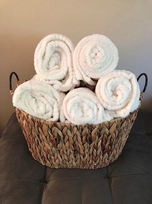 Plush White Blanket