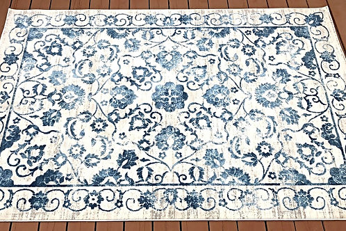 Gray and Blue Area Rug