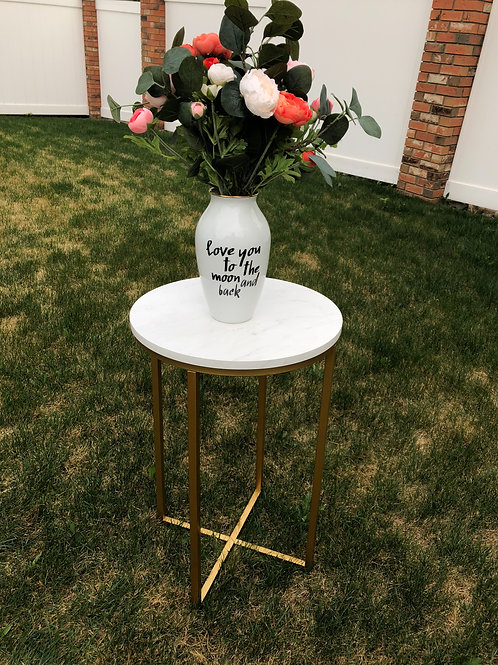 Marble and Gold End Table