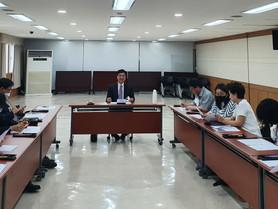검찰시민위원회 위원장 자격으로 회의 진행