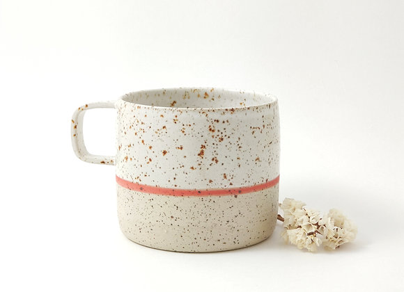 Mug - Martine - Blanc/rouge pyrité