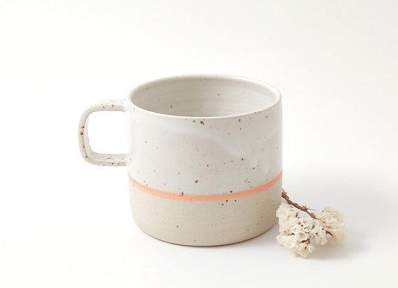 Mug - Martine - Blanc/orange
