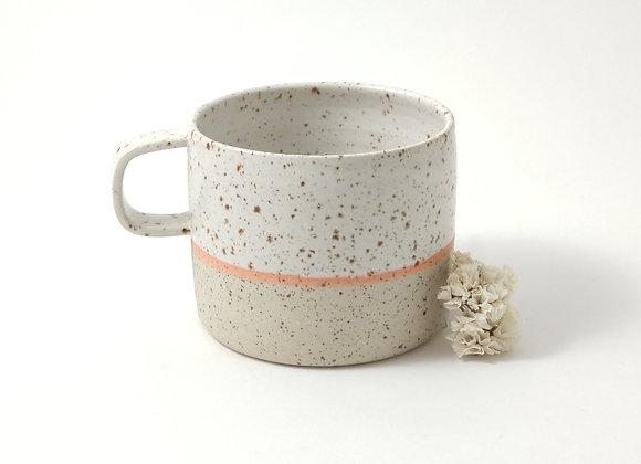 Mug - Martine - Blanc/orange pyrité