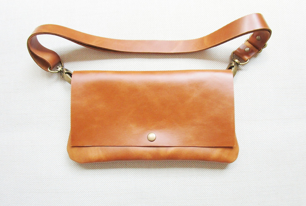 Pelt And Post Etrangeres Tan Leather Fanny Pack