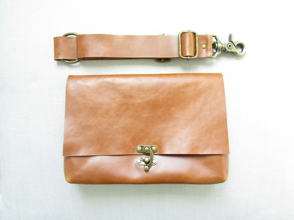 Tan Leather Fanny Pack For Women