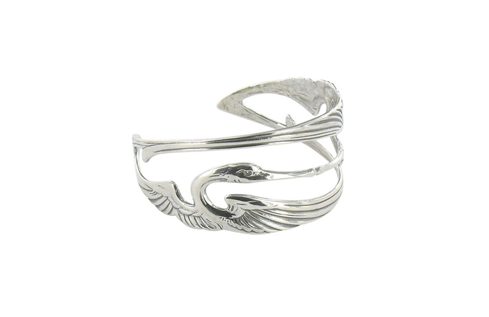 Musee d'Orsay Cranes Ring Art Nouveau in Silver