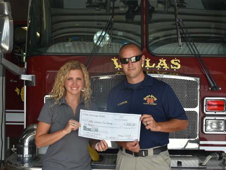 Villas Volunteer Fire Department Donation