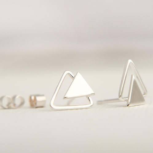 MUKA Studio | Double Triangle Studs (Silver)