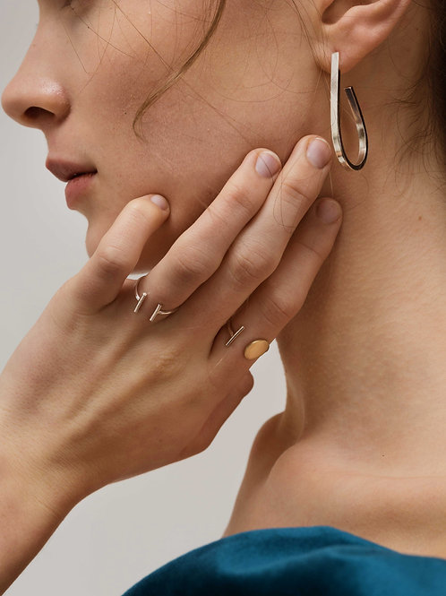 Catcher and Caught | Sterling Silver Open Ring